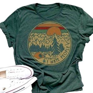 Love Nature but Hate People Boho Camp  TShirt